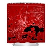 Sudbury Street Map - Sudbury Canada Road Map Art On Color Shower Curtain