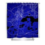 Sudbury Street Map - Sudbury Canada Road Map Art On Colored Back Shower Curtain