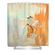 Sudden Burst Of Paint Shower Curtain