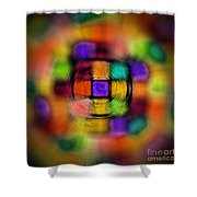 Sudoku Tunnel Abstract Shower Curtain