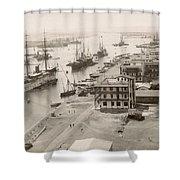 Suez Canal Port Said Shower Curtain