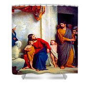 Suffer The Children Shower Curtain