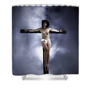 Suffering For Love Shower Curtain