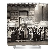 Suffrage Protest, 1916 Shower Curtain
