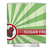 Sugar Free Banner Shower Curtain