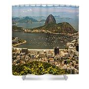 Sugar Loaf Mountain In Rio De Janeiro Shower Curtain