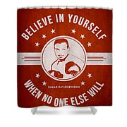 Sugar Ray Robinson - Red Shower Curtain