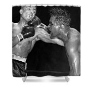 Sugar Ray Throws A  Right Shower Curtain by Underwood Archives