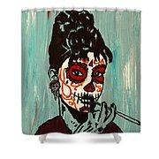 Sugar Skull Audrey Shower Curtain