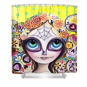 Sugar Skull Princess Shower Curtain