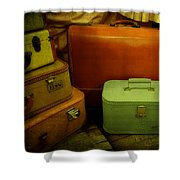 Suitcases In The Attic Shower Curtain