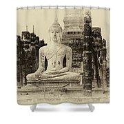 Buddha Sukhothai Thailand 1 Shower Curtain