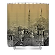 Suleymaniye Mosque And New Mosque In Istanbul Shower Curtain by Ayhan Altun