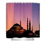 Suleymaniye Sundown Triptych 05 Shower Curtain