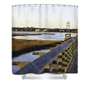 Sullivan's Island To Old Village Shower Curtain