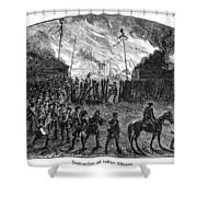 Sullivans March, 1779 Shower Curtain