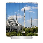 Sultan Ahmed Mosque Landmark In Istanbul Turkey Shower Curtain