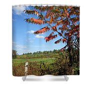 Sumac Fence Shower Curtain