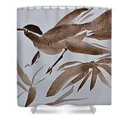 Sumi Bird Shower Curtain