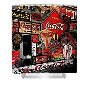 Sumi-e Styled Coca Cola Signs Shower Curtain