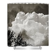 Summer Afternoon Cloudscape Shower Curtain
