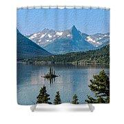 Summer At Glacier National Park Shower Curtain
