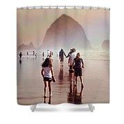 Summer At The Seashore  Shower Curtain