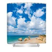 Summer Beach Algarve Portugal Shower Curtain