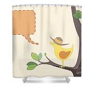 Summer Bird Shower Curtain