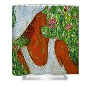 Summer Blush Shower Curtain by Xueling Zou