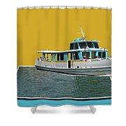 Summer Boat Ride 02 Walt Disney World Shower Curtain