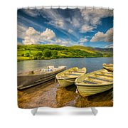 Summer Boating Shower Curtain