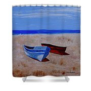 Summer Boats Shower Curtain