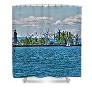 Summer Breeze From Lasalle Park Shower Curtain