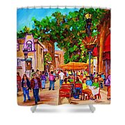 Summer Cafes Shower Curtain