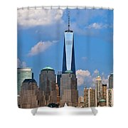 Summer Cityscape Nyc  Shower Curtain