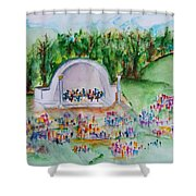Summer Concert In The Park Shower Curtain
