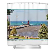 Summer Day At South Haven Mi Shower Curtain