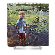 Summer Day At The Pond Shower Curtain