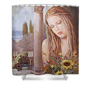 Summer Day Shower Curtain by Sinisa Saratlic