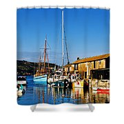 Summer Evening At The Harbour Shower Curtain