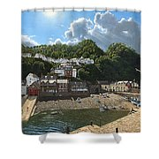 Summer Evening Clovelly North Devon Shower Curtain