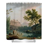 Summer Evening Landscape In Italy Shower Curtain