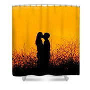 Summer Evening Love Shower Curtain