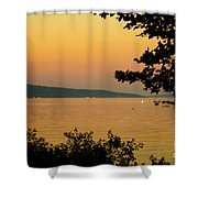 Summer Evening On Cayuga Lake Shower Curtain