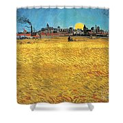 Summer Evening Wheat Field At Sunset Shower Curtain