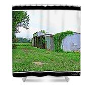 Summer Farm Sheds Shower Curtain