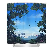 Summer Fields Shower Curtain by Cassiopeia Art