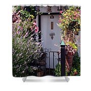 Summer Flowers Clovelly Devon Shower Curtain
