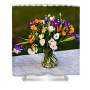 Summer Flowers Featured 3 Shower Curtain